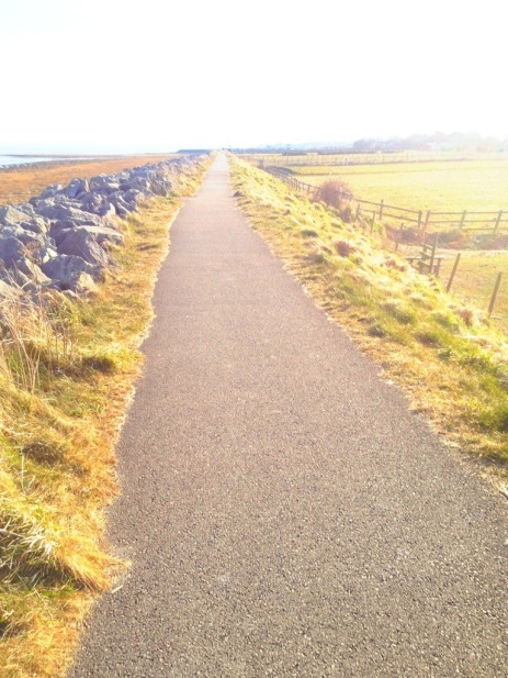 The sea wall, Knott End