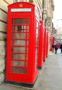 Red telephone box!
