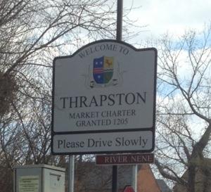 Thrapston town sign