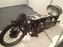 1 of 2 working replicas of Burt Munro's bike