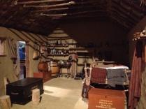 A wattle and Daub house