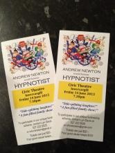 Hypnotist tickets