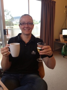 Champagne and coffee for breakfast!