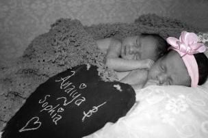 Twin nieces are born
