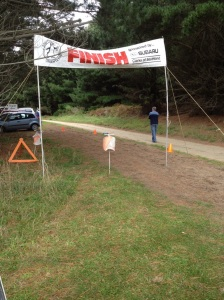 Orienteering start / finish line