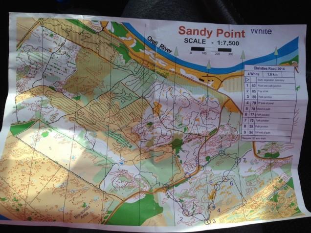 Sandy Point Orienteering map