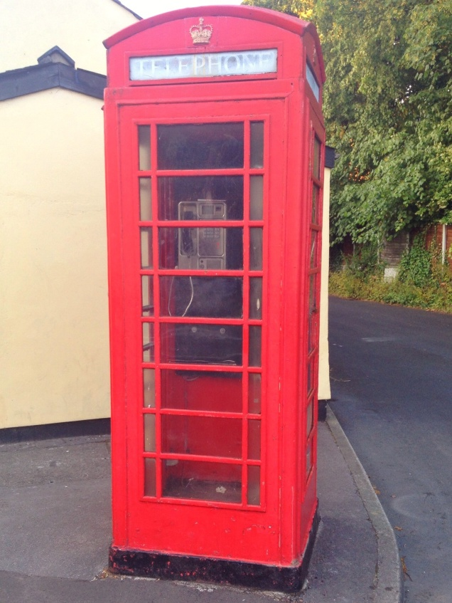 iconic red phone box