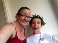 My nephew and I - Greek outfit for school