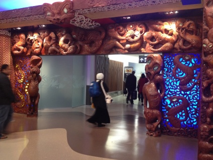 welcome gate at Auckland Airport