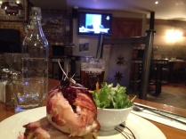Food, beer, and rugby on TV!