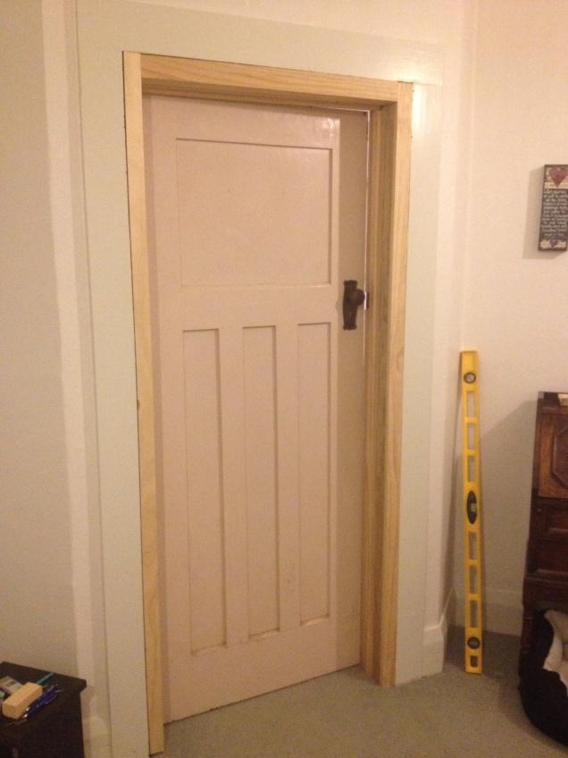 Frame builds, door from scrap yard.