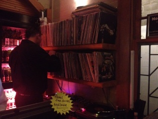 Pleased to see real vinyl in the vinyl bar!