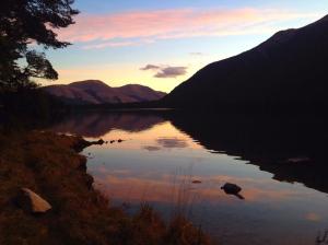 Lake Mavora at sunset