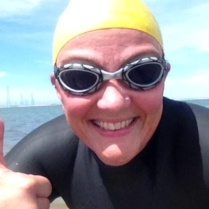 happy OW swimmer Mel