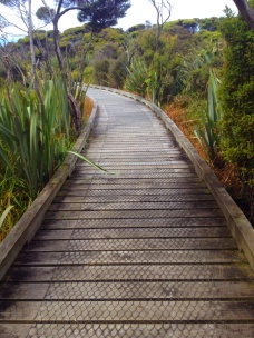 board walk to the 'ship graveyard'
