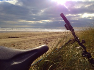 MTB on Oreti beach
