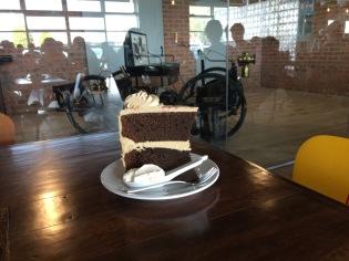 a huge cake