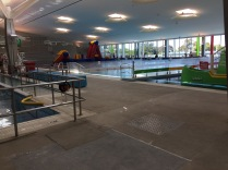the indoor pool, there was also a 50m outdoor one