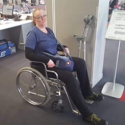 wheelchair - unable to walk far