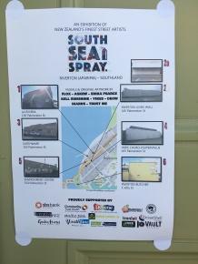 Riverton street art South sea spray